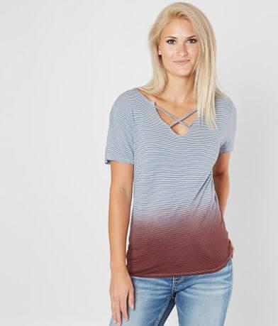 BKE Strappy Dip Dye T-Shirt
