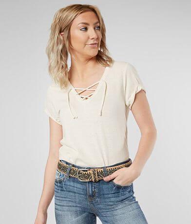 BKE Lace-Up T-Shirt