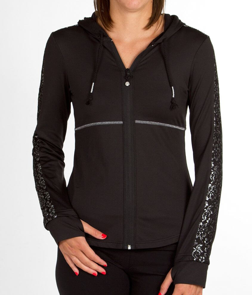 BKE SPORT Lace Hooded Active Jacket front view
