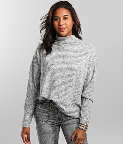 BKE Brushed Waffle Knit Pullover