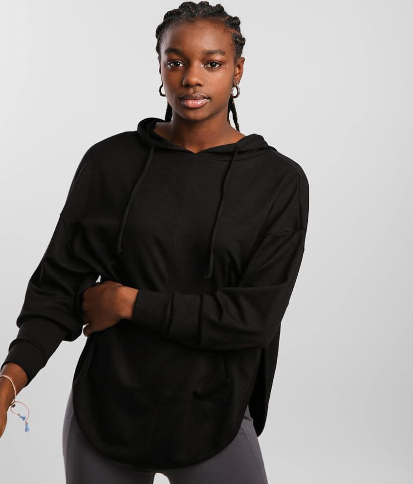 BKE core Cut-Out Mesh Racerback Active Hoodie front view