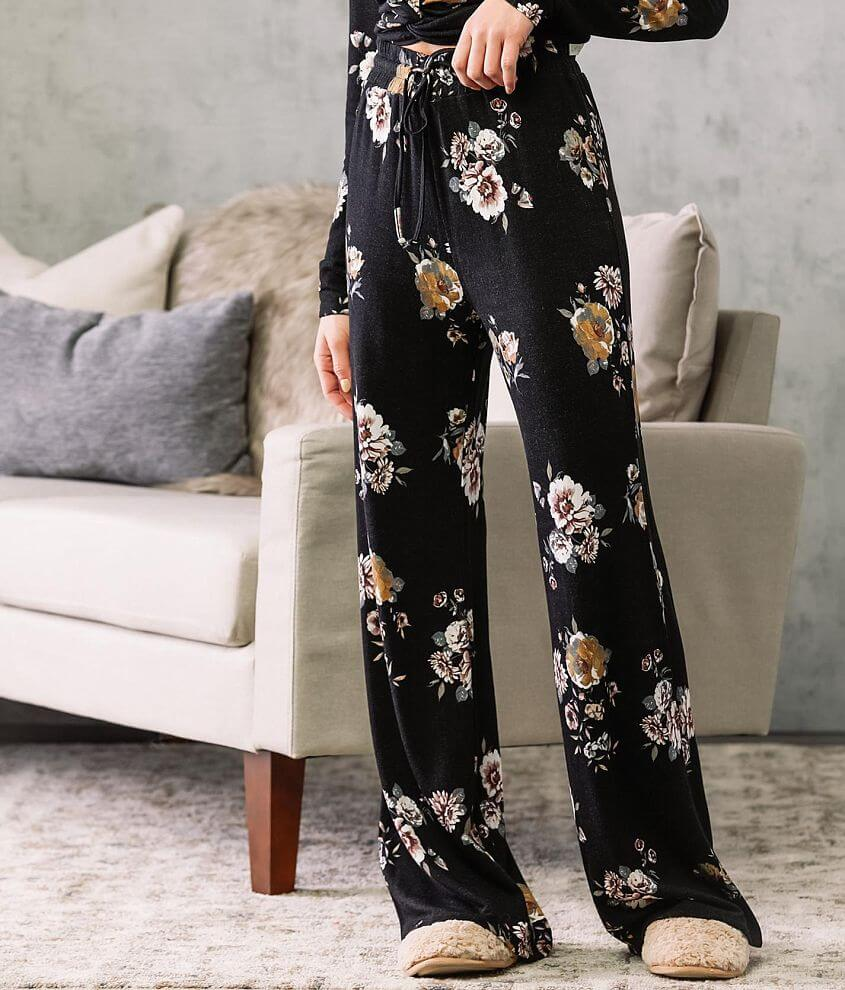 Fade by BKE Floral Print Wide Leg Pant