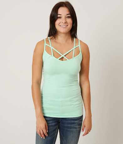 BKE core Double Criss Cross Tank Top