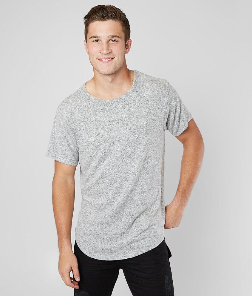 Nova Industries Marled Long Body T-Shirt front view