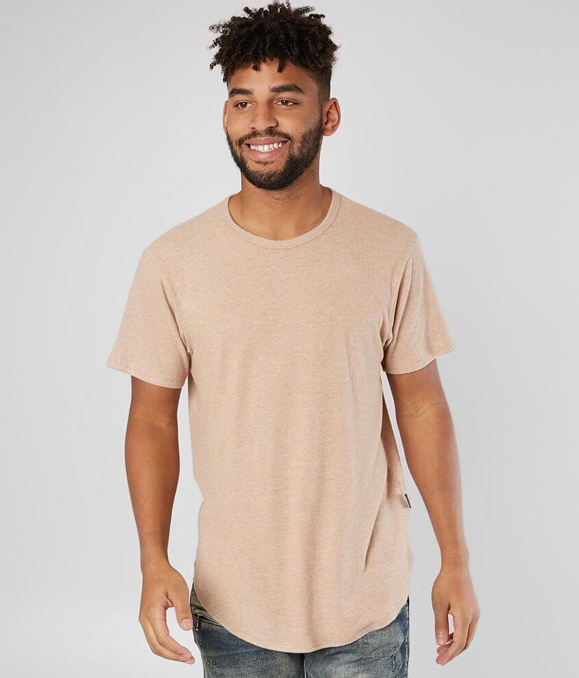 Nova Industries Brushed Long Body T-Shirt - Men s T-Shirts in Oyster ... b915992b957