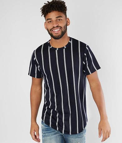 Nova Industries Vertical Stripe Long Body T-Shirt