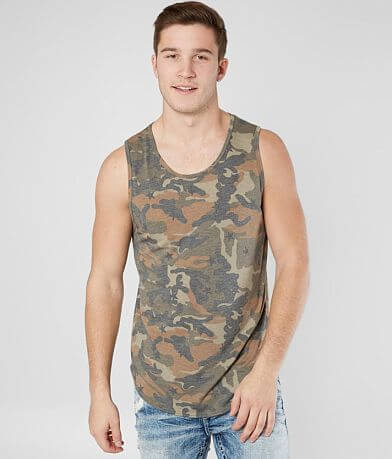 Nova Industries Camo Long Body Tank Top