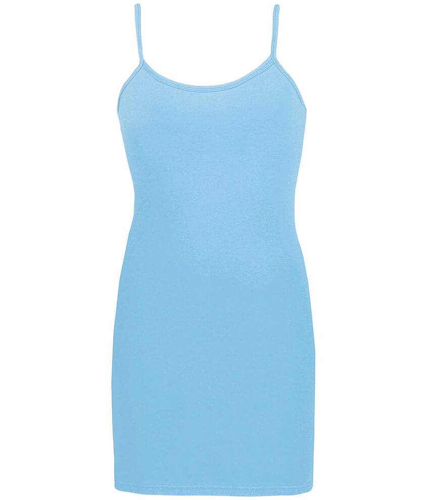 BKE Long Strappy Tank Top front view