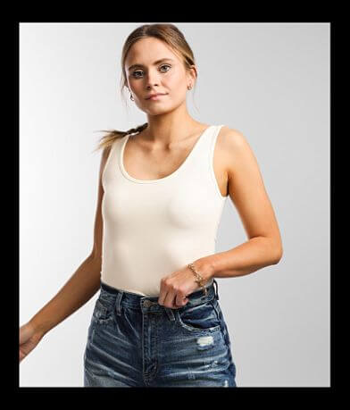 BKE core X-Long Scoop Neck Tank Top