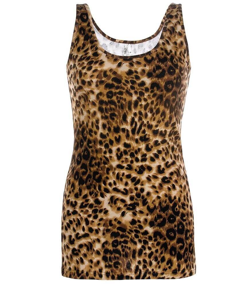 d359a8d22ba78a BKE Cheetah Print Tank Top - Women s Tank Tops in Brown Cheetah