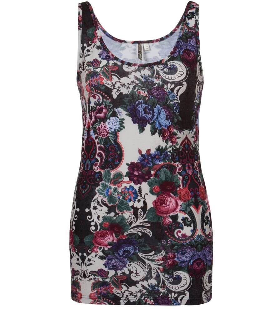 BKE Floral Tank Top front view