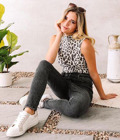Willow & Root Cheetah Print Mock Neck Bodysuit