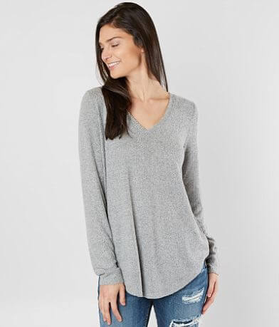 BKE Brushed Fleece Top