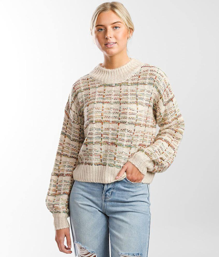 It's Our Time Patterned Sweater front view
