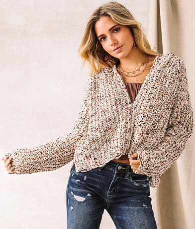 Willow & Root Chenille Hooded Sweater