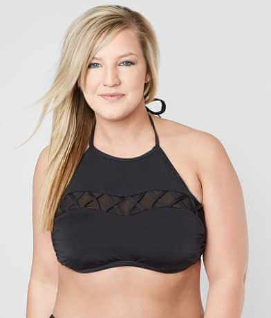 Bikini Lab High Neck Swimwear Top - Plus Size Only