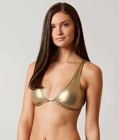 Bikini Lab Metallic Swimwear Top
