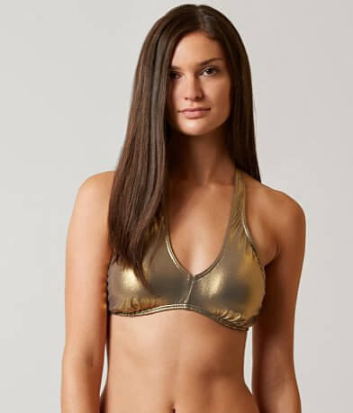 Bikini Lab Metallic Convertible Swimwear Top