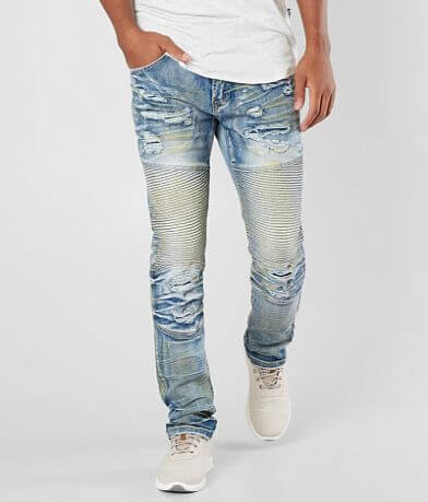 R.sole Shredded Moto Skinny Stretch Jean