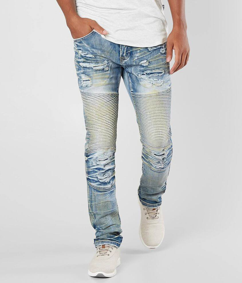 2469c53caf35 R.sole Shredded Moto Skinny Stretch Jean - Men's Jeans in Bright ...