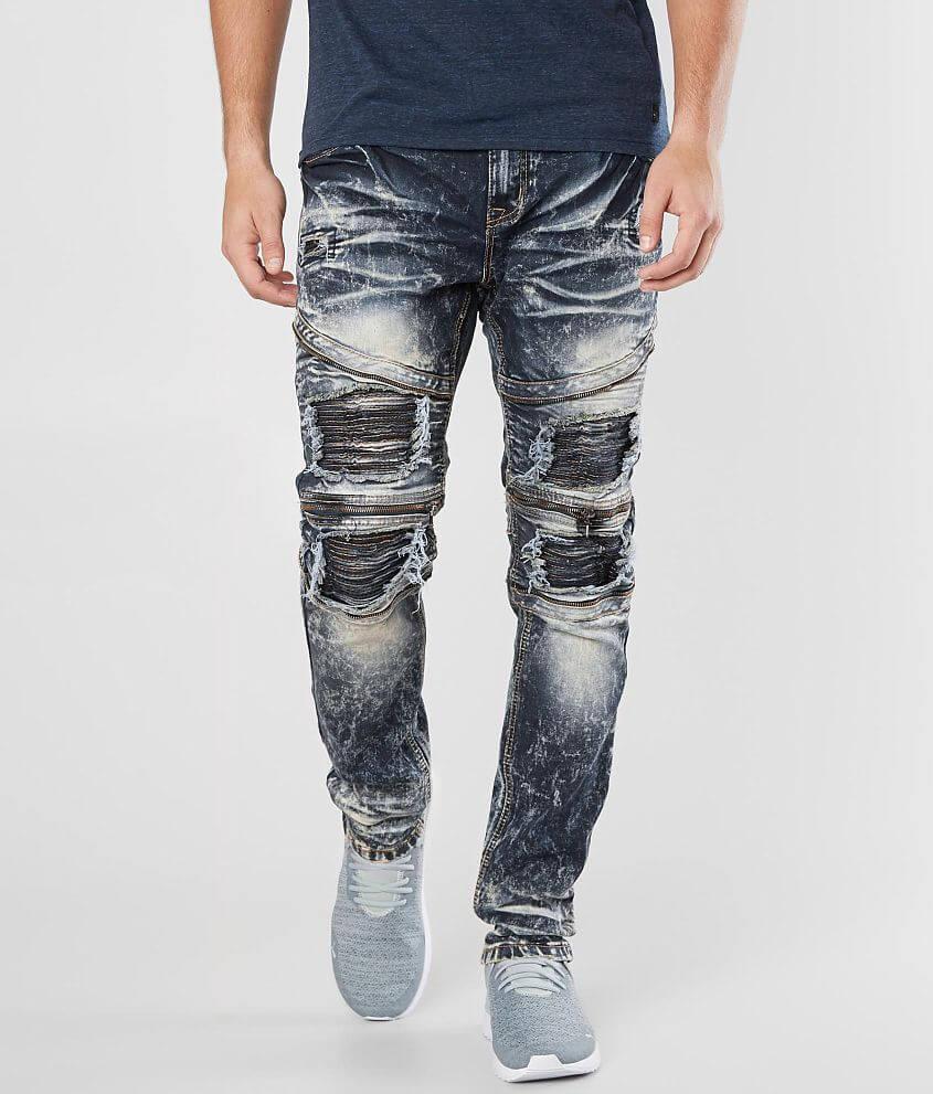 af4445139a9f R.sole Moto Skinny Stretch Jean - Men's Jeans in Bleach Moto | Buckle