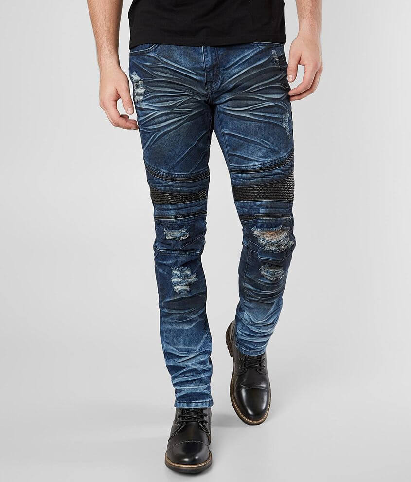 R.sole Moto Skinny Stretch Jean front view