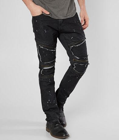 R.sole Painted Moto Skinny Stretch Jean