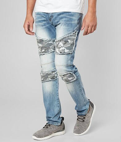 R.sole Camo Moto Skinny Stretch Jean