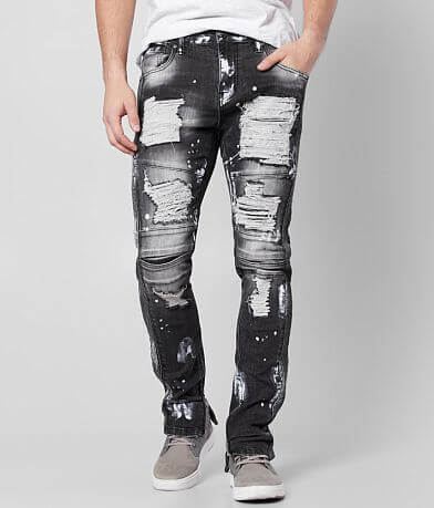 R.sole Washed Moto Skinny Stretch Jean