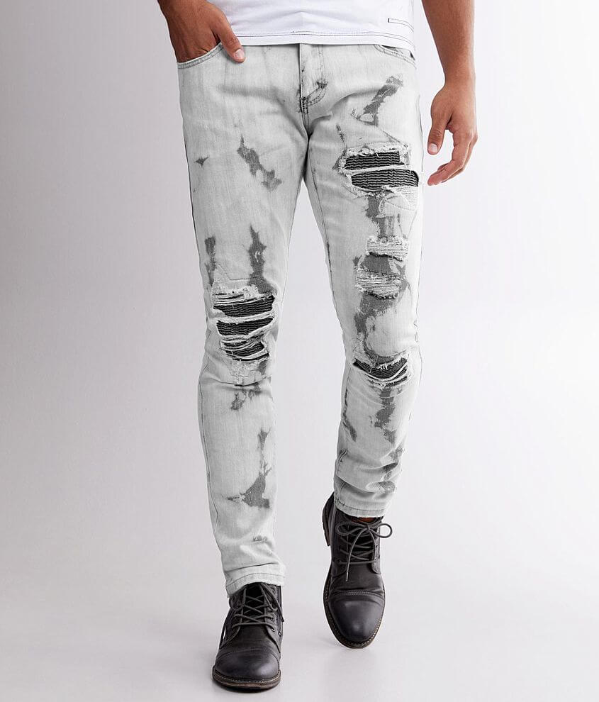 R.sole Bleach Washed Skinny Stretch Jean front view