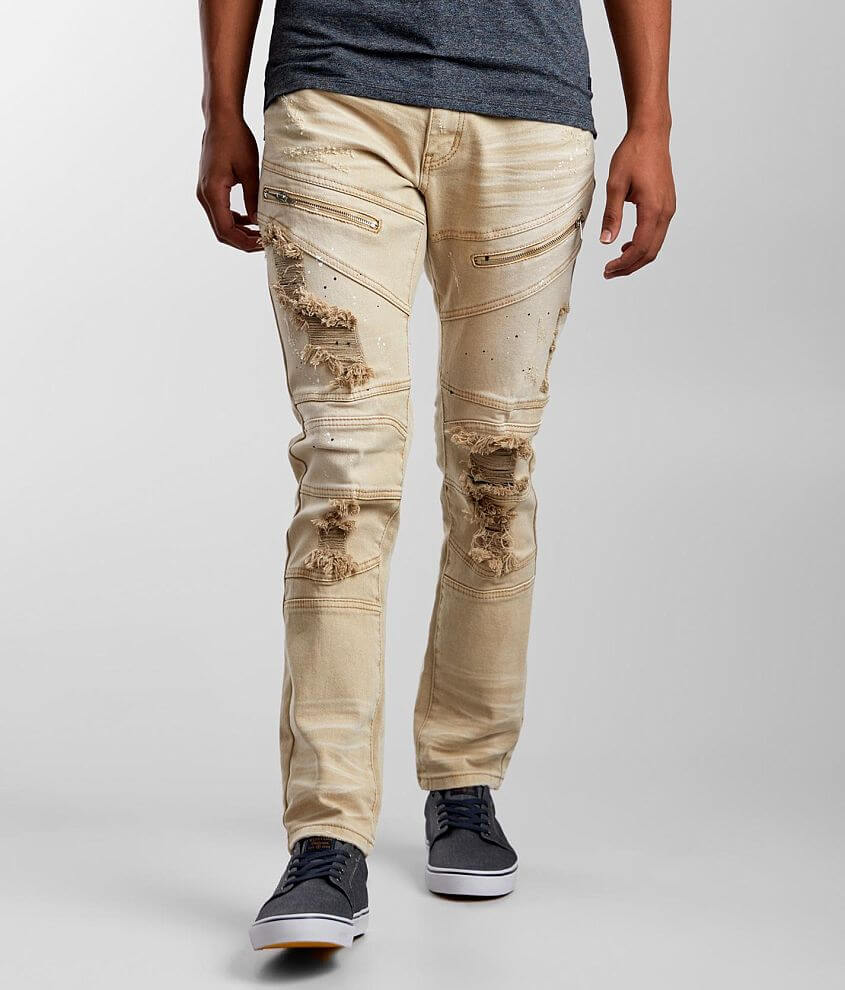 R.sole Wheat Washed Skinny Stretch Jean front view