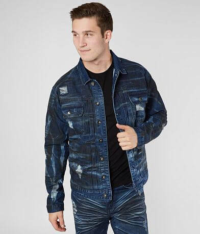 R.sole Oil Washed Denim Stretch Jacket