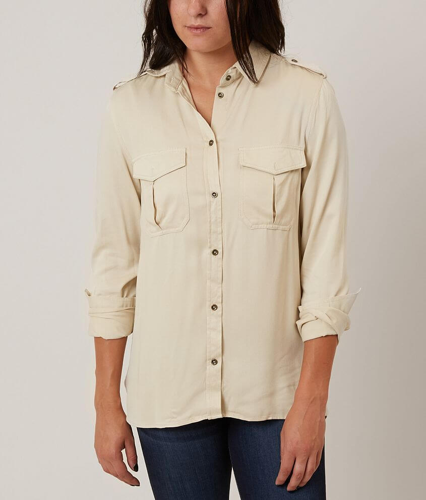43c7ed9d1af J for Justify Solid Shirt - Women s Shirts Blouses in Tapioca
