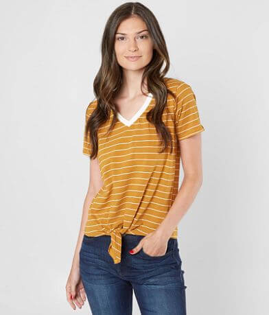 Daytrip Striped Front Tie T-Shirt