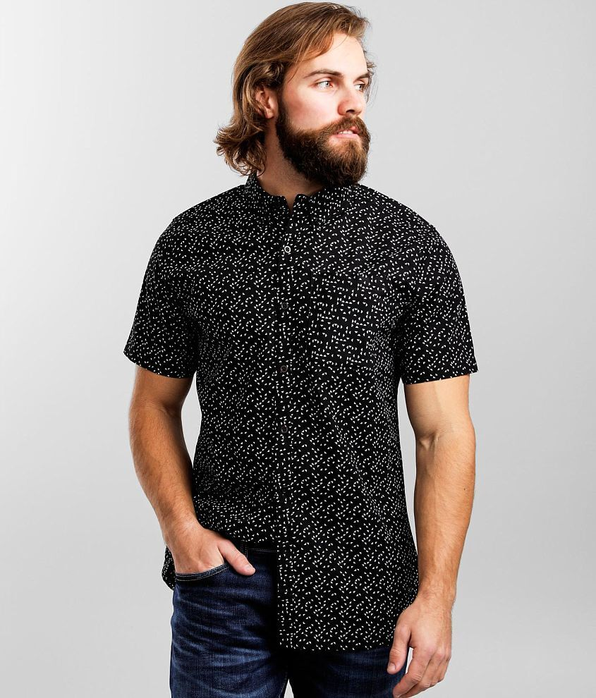 Departwest Woven Geo Print Shirt front view