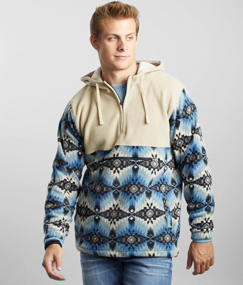 Departwest Southwestern Fleece Hooded Pullover front view