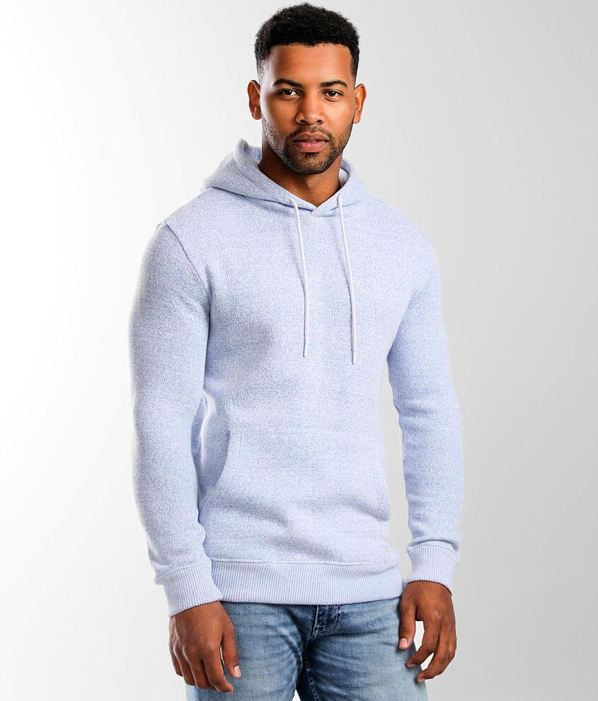 Departwest Textured Knit Hooded Sweatshirt front view