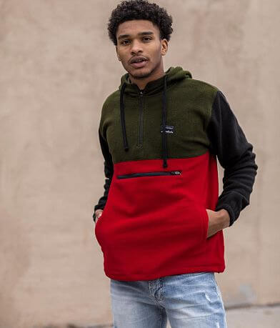 Departwest Color Block Fleece Hoodie