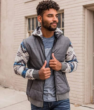 Departwest Pieced Southwestern Puffer Jacket