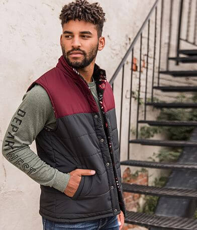 Departwest Color Block Reversible Puffer Vest