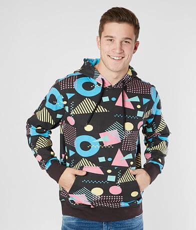SUPER MASSIVE Geo Print Hooded Sweatshirt