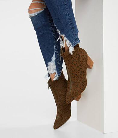 Coconuts Clarissa Animal Print Ankle Midi Boot