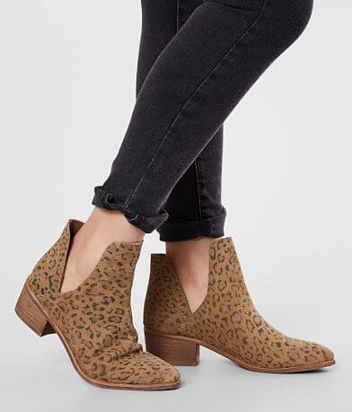 Coconuts Leopard Print Leather Ankle Boot