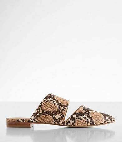Coconuts Shay Snake Print Mule Shoe