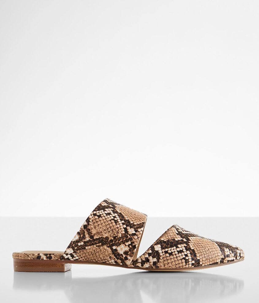 Coconuts Shay Snake Print Mule Shoe front view