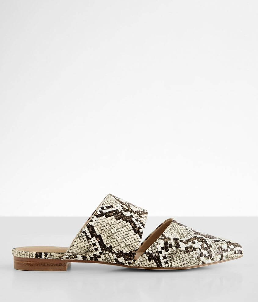 Coconut Shay Snake Print Mule Shoe front view