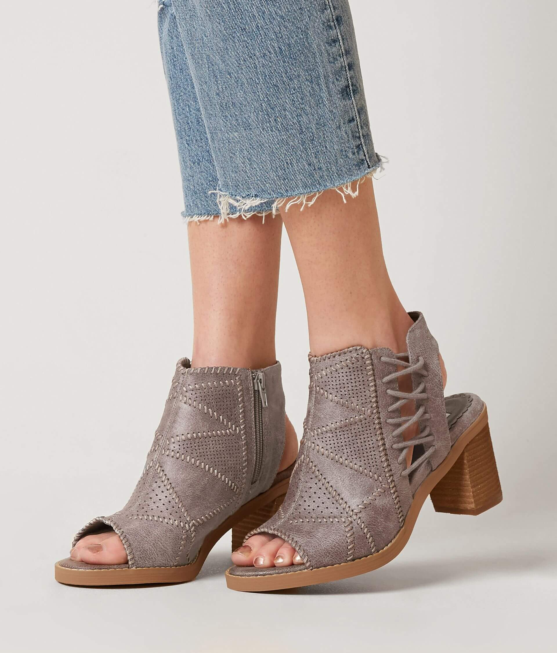 a073fc2d622 Not Rated Tracy Heeled Sandal - Women's Shoes in Grey | Buckle