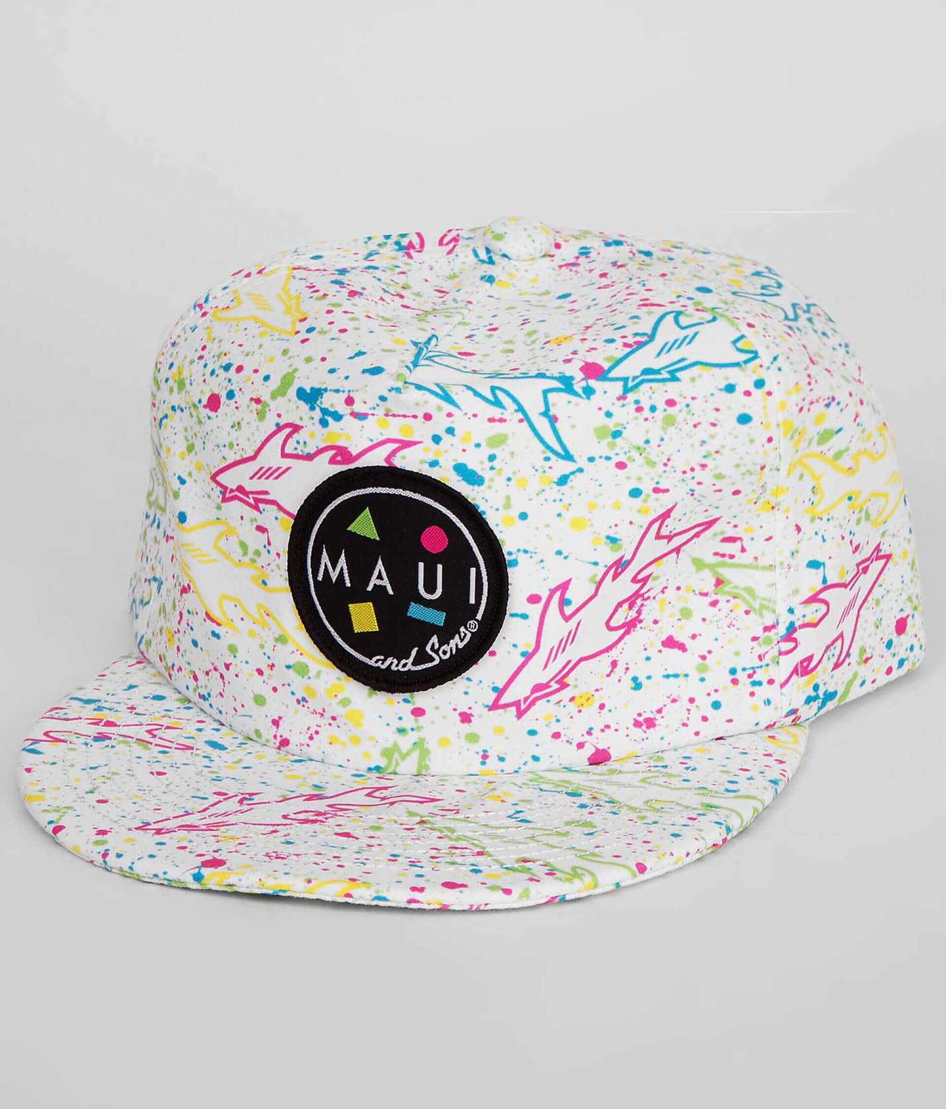 0bc10ad0567a4a Maui & Sons Splatter Shark Hat - Men's Hats in White | Buckle