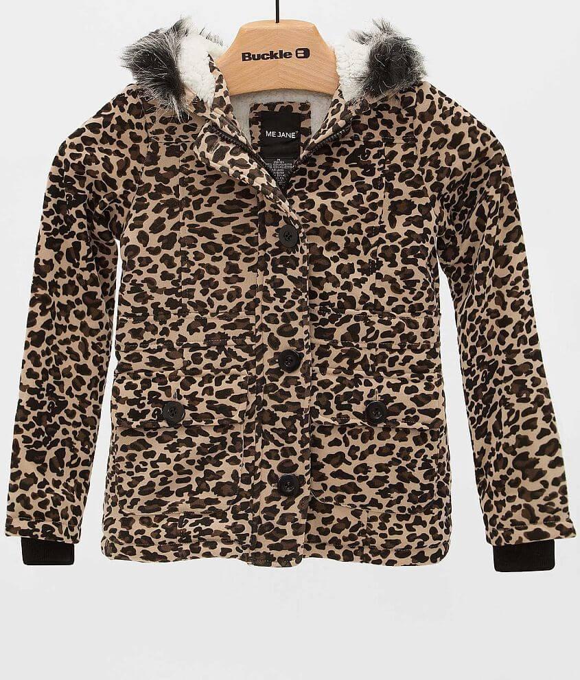 Girls - Me Jane Leopard Jacket front view