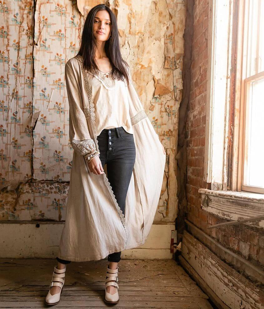 Gimmicks Lace Trim Kimono front view